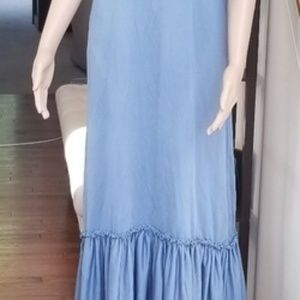 Dresses & Skirts - Popover Maxi Dress M Slate Blue